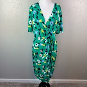 L like new banana republic floral dress